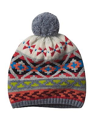 GAP Crazy Fair Isle Merino Wool Blend Beanie