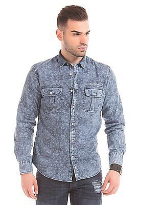 Ed Hardy Paisley Print Slim Fit Shirt