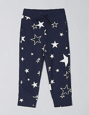 GAP Blue Toddler Boy Print Pull-On Pants