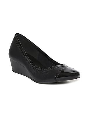 Cole Haan Cap Toe Leather Wedges