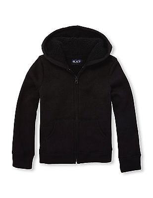 The Children's Place Girls Hooded Long Sleeve Sweatshirt