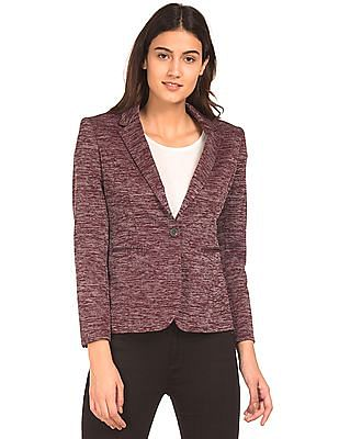 Arrow Woman Single Breasted Textured Blazer