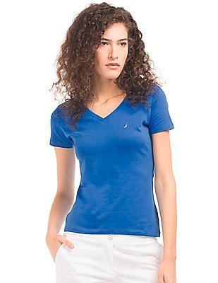 Nautica Solid Regular Fit T-Shirt