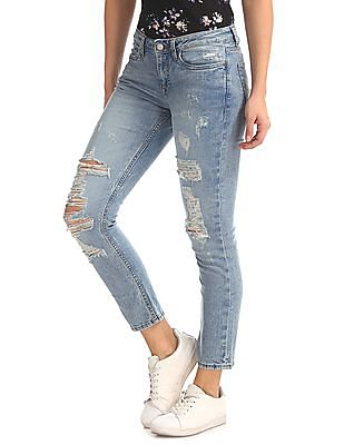 Aeropostale Distressed Cropped Jeans