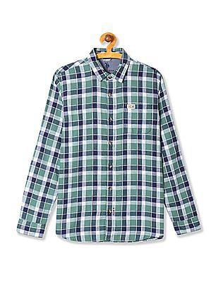 U.S. Polo Assn. Kids Boys Check Long Sleeve Shirt