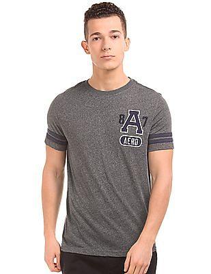 Aeropostale Varsity Stripe Heathered T-Shirt