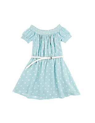 Cherokee Girls Polka Dot Fit And Flare Dress