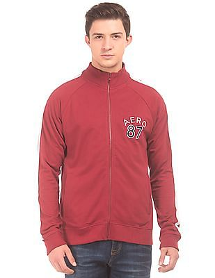Aeropostale Contrast Panel Sweat Jacket