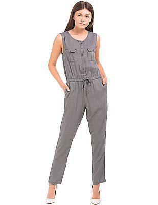 U.S. Polo Assn. Women Printed Regular Fit Jumpsuit