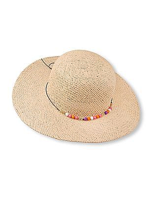 The Children's Place Girls Bead Band Floppy Straw Hat