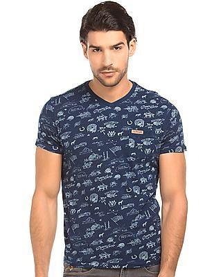 U.S. Polo Assn. Denim Co. V-Neck Printed T-Shirt