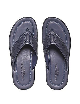 U.S. Polo Assn. Laser Cut Leather Sandals