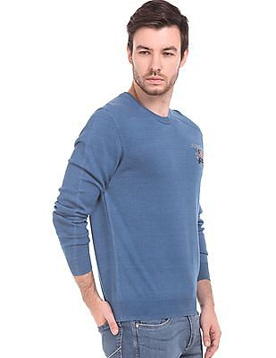 U.S. Polo Assn. Denim Co. Muscle Fit Round Neck Sweater