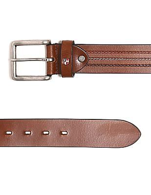 U.S. Polo Assn. Contrast Stitch Leather Belt
