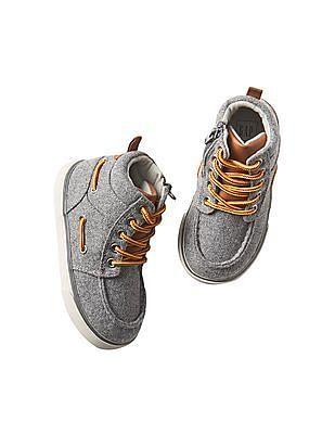 GAP Baby Flannel Hi-Top Sneakers