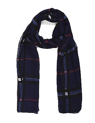 SUGR Blue Checked Stole