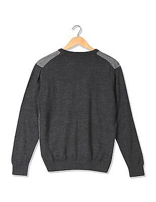 Arrow Sports Regular Fit Patterned Knit Sweater