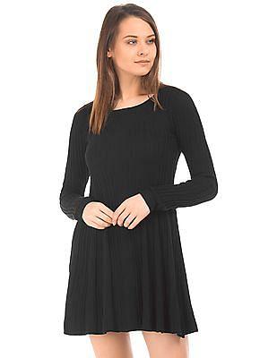 Aeropostale Long Sleeve Knit Skater Dress