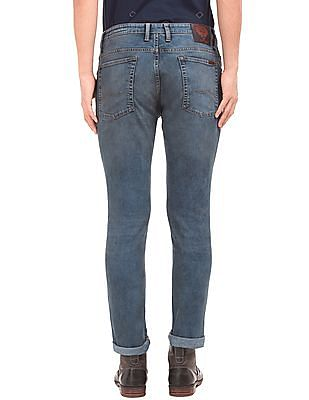 Ed Hardy Lightly Distressed Slim Fit Jeans