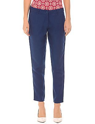 U.S. Polo Assn. Women Skinny Fit Linen Trousers