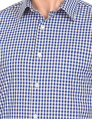 USPA Tailored French Placket Gingham Shirt