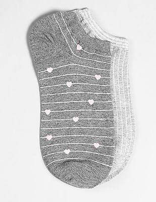 GAP Stripe Pattern Ankle Socks - Pack of 2