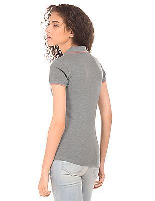 Aeropostale Regular Fit Heathered Polo Shirt