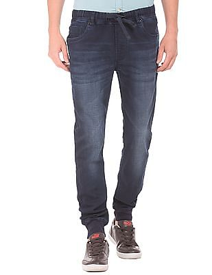Flying Machine Regular Fit Washed Jogger Jeans