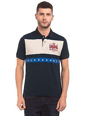 U.S. Polo Assn. Denim Co. Colour Block Muscle Fit Polo Shirt