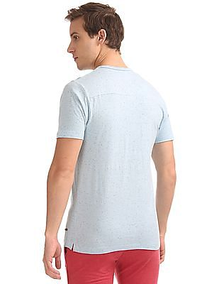 Cherokee Slim Fit Speckled Henley T-Shirt