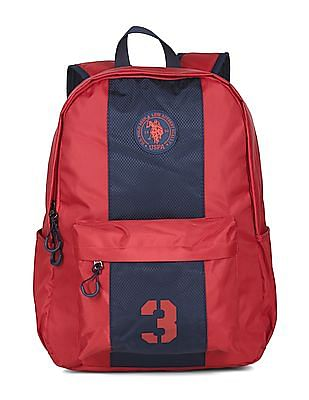 U.S. Polo Assn. Kids Boys Contrast Panelled Backpack