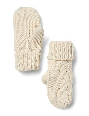 GAP Baby Cable-Knit Mittens