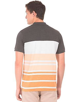 Roots by Ruggers Regular Fit Striped Polo Shirt