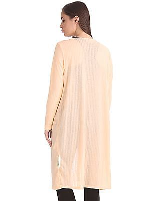 Cherokee Ribbed Knit Open Front Shrug
