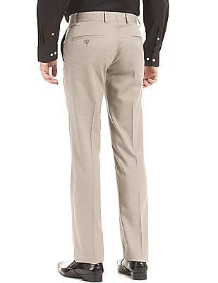Arrow Flat Front Slim Fit Trousers