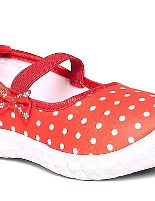 Unlimited Girls Polka Print Slip On Shoes