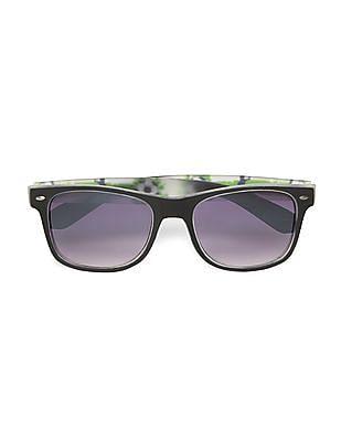 Flying Machine Football Print Tinted Sunglasses