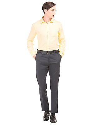 Arrow Solid Linen Shirt