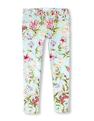 The Children's Place Girls Floral Print Jeggings