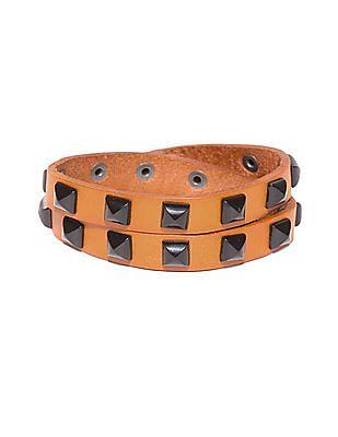 Ed Hardy Studded Wrapped Leather Bracelet