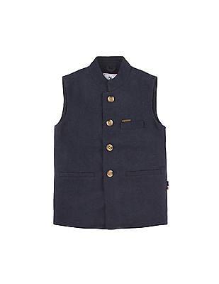 U.S. Polo Assn. Kids Boys Mandarin Collar Nehru Jacket