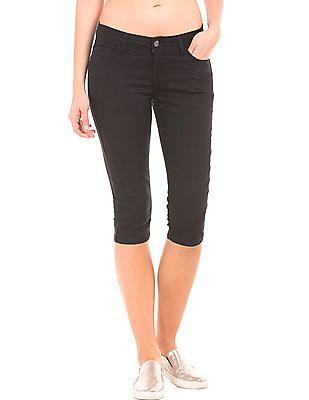 Newport Solid Capri Jeans