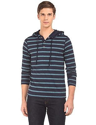 Aeropostale Hooded Striped T-Shirt