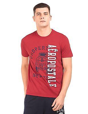 Aeropostale Printed Round Neck T-Shirt