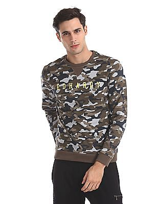 Ed Hardy Slim Fit Camo Print Sweatshirt