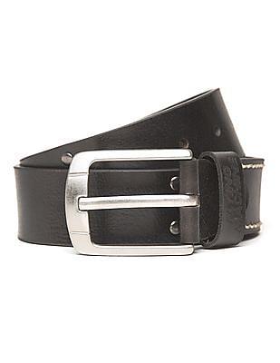 Flying Machine Pebblegrain Leather Belt