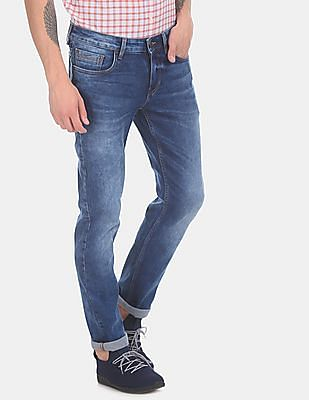 Cherokee Men Blue Slim Fit Low Waist Jeans
