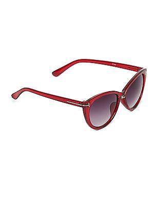 SUGR Oval Frame Gradient Sunglasses