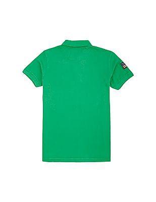 U.S. Polo Assn. Kids Boys Solid Cotton Polo Shirt