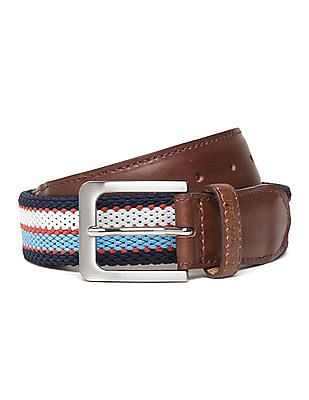 U.S. Polo Assn. Contrast Trim Canvas Belt
